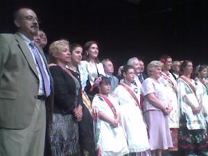 Con mis compañeros de Corporación, con la Presidenta de la Casa de Murcia y las Reinas