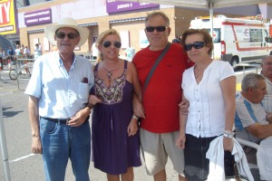 Con Lola Campos, Ángel Frechoso y Ángel García
