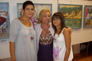 Con dos buenas amigas, Inma y Estefanía