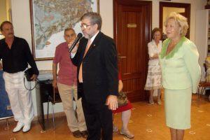 Jordi Oriol dirigiendo unas palabras  a los asistentes