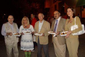 Con Manuel Ortiz, José María Aguilar, Manuel Medrano y Cristina Melendo