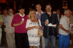 Com mis colaboradores Carmelo, Eduardo y Antonio