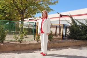 Drante la visita al CEE Arboleda de Teruel